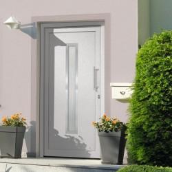 stradeXL Drzwi wejściowe zewnętrzne, białe, 98 x 200 cm