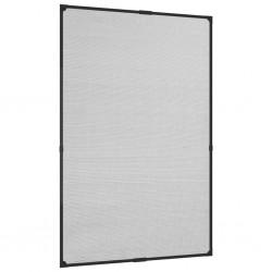 stradeXL Magnetyczna moskitiera okienna, antracytowa, 80x120 cm