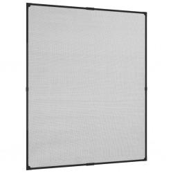 stradeXL Magnetyczna moskitiera okienna, antracytowa, 100x120 cm