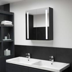 stradeXL Szafka łazienkowa z lustrem i LED, 62x14x60 cm