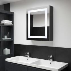 stradeXL Szafka łazienkowa z lustrem i LED, 50x13x70 cm