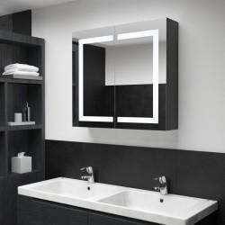 stradeXL Szafka łazienkowa z lustrem i LED, 80x12,2x68 cm