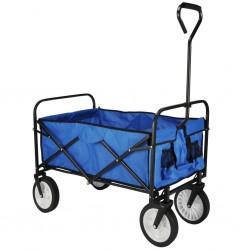 HI Składany wózek, niebieski, 53,5 x 83 x 27 cm