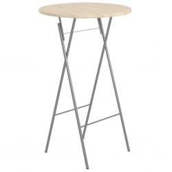 stradeXL Składany stolik barowy, 60x113 cm, stal i drewno sosnowe