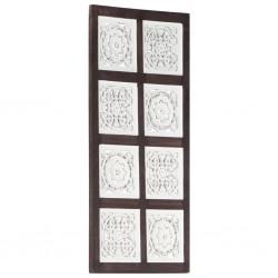 stradeXL Ręcznie rzeźbiony panel ścienny, MDF, 40x80x1,5 cm, brąz i biel