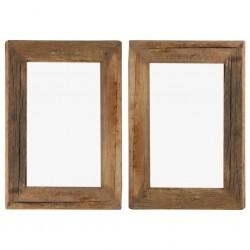 stradeXL Ramki na zdjęcia, 2 szt., 30x40 cm, drewno z odzysku i szkło