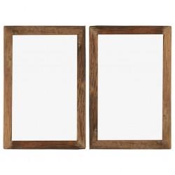 stradeXL Ramki na zdjęcia, 2 szt., 50x70 cm, drewno z odzysku i szkło