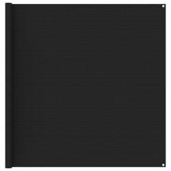 stradeXL Wykładzina do namiotu, 200 x 400 cm, czarna