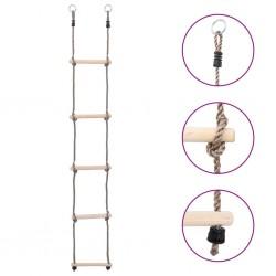 stradeXL 5-Step Ladder 210 cm Solid Pinewood