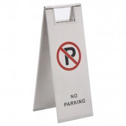 stradeXL Składane oznakowanie parkingowe, stal nierdzewna