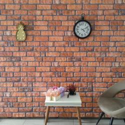stradeXL Panele ścienne 3D, wzór cegły, kolor terakota, 10 szt., EPS