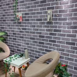 stradeXL Panele ścienne 3D, wzór czarno-szarej cegły, 10 szt., EPS