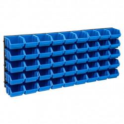 stradeXL 48-częściowy organizer na panelach ściennych, niebiesko-czarny