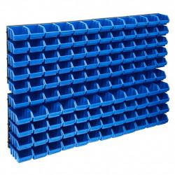 stradeXL 128-częściowy organizer na panelach ściennych, niebiesko-czarny