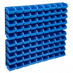 stradeXL 96-częściowy organizer na panelach ściennych, niebiesko-czarny