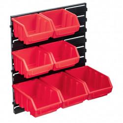 stradeXL 8-częściowy organizer na panelu ściennym, czerwono-czarny