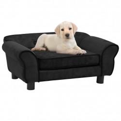 stradeXL Sofa dla psa, czarna, 72x45x30 cm, pluszowa