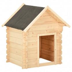 stradeXL Buda dla psa, 125x80x100 cm, lite drewno sosnowe, 14 mm