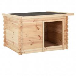 stradeXL Buda dla psa, 80x80x100 cm, lite drewno sosnowe, 14 mm