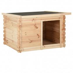 stradeXL Buda dla psa, 120x100x80 cm, lite drewno sosnowe, 14 mm