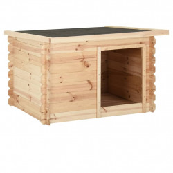 stradeXL Buda dla psa, 150x120x80 cm, lite drewno sosnowe, 14 mm