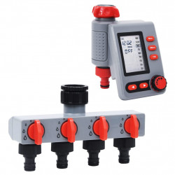 stradeXL Cyfrowy sterownik nawadniania z 1 ujściem i dystrybutorem wody