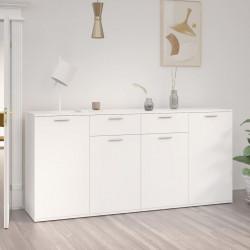 stradeXL Szafka, biała, 160x36x75 cm, płyta