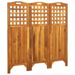 stradeXL Parawan 3-panelowy, 121x2x120 cm, lite drewno akacjowe
