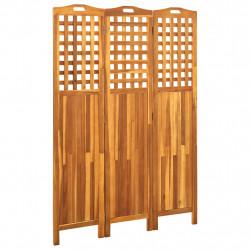 stradeXL Parawan 3-panelowy, 121x2x170 cm, lite drewno akacjowe