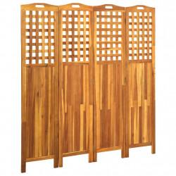 stradeXL Parawan 4-panelowy, 161x2x170 cm, lite drewno akacjowe