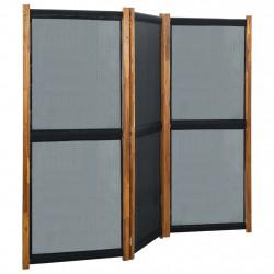 stradeXL Parawan 3-panelowy, czarny, 210 x 170 cm