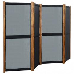 stradeXL Parawan 4-panelowy, czarny, 280 x 170 cm