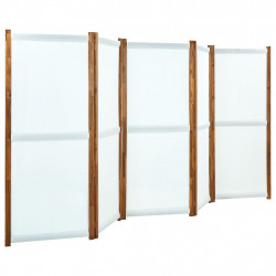 stradeXL Parawan 5-panelowy, kremowy, 350 x 170 cm
