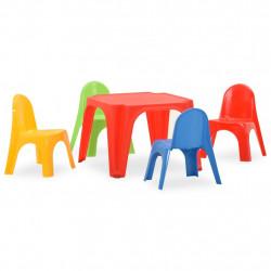 stradeXL Stolik i krzesełka dla dzieci, polipropylen