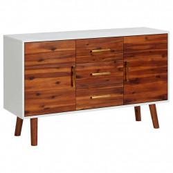 stradeXL Komoda, 110 x 35 x 70 cm, lite drewno akacjowe i MDF