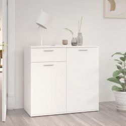 stradeXL Szafka, biała, 80x36x75 cm, płyta wiórowa