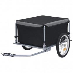stradeXL Transportowa przyczepa rowerowa, czarno-szara, 65 kg