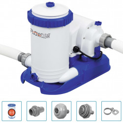 Bestway Pompa filtracyjna Flowclear do basenu, 9463 L/h
