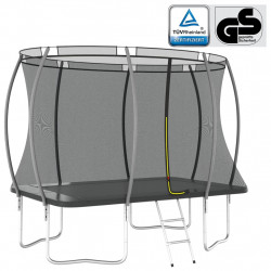 stradeXL Trampolina z akcesoriami, prostokątna, 274x183x76 cm, 150 kg