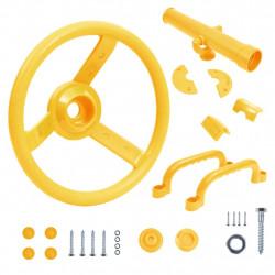 stradeXL Zestaw akcesoriów do wieży do zabaw dla dzieci, żółty