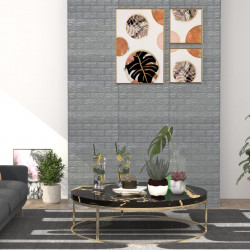 stradeXL Panele 3D z imitacją cegły, samoprzylepne, 40 szt., antracytowe