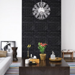 stradeXL Panele 3D z imitacją cegły, samoprzylepne, 40 szt., czarne