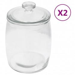 stradeXL Szklane słoje z pokrywką, 2 szt., 3850 ml