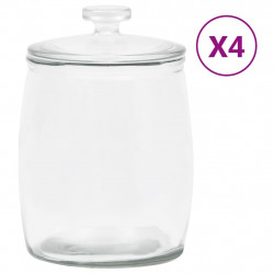 stradeXL Szklane słoje z pokrywką, 4 szt., 8000 ml