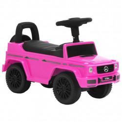stradeXL Jeździk samochód Mercedes-Benz G63, różowy